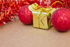 Piękne Bożenarodzeniowe dekoracje i szczęśliwy nowy rok Fotografia Royalty Free