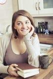 piękne brunetkę young Obrazy Royalty Free