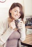 piękne brunetkę young Obrazy Stock