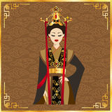 Piękne chińskie kobiety w tle Fotografia Royalty Free