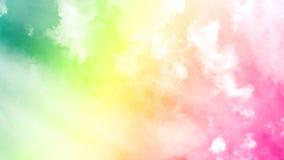 Piękne chmury które plamią rewolucjonistek menchii gradientem zdjęcie wideo