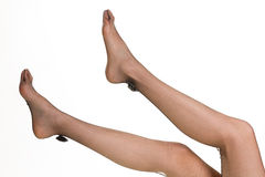 Piękne długie nogi na białym tle fotografia royalty free