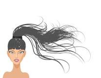 piękne długie włosy Fotografia Royalty Free