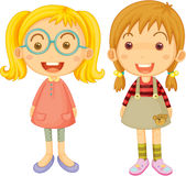 piękne dziewczyny dwa Zdjęcie Royalty Free