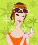 piękne dziewczyny makijaż Zdjęcia Royalty Free