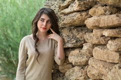 piękne dziewczyny portret young fotografia stock