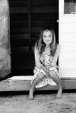 piękne dziewczyny się uśmiecha Obraz Stock