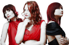 piękne dziewczyny trzy Zdjęcie Royalty Free