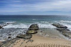 Piękne dziewicze plaże Andalusia, valdevaqueros w prowinci Cadiz obraz stock