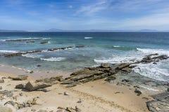 Piękne dziewicze plaże Andalusia, valdevaqueros w prowinci Cadiz zdjęcia royalty free