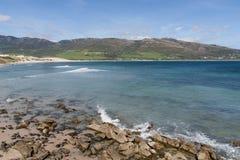 Piękne dziewicze plaże Andalusia, valdevaqueros w prowinci Cadiz obrazy stock