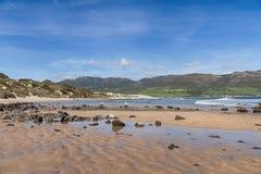 Piękne dziewicze plaże Andalusia, valdevaqueros w prowinci Cadiz obraz royalty free
