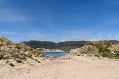 Piękne dziewicze plaże Andalusia, valdevaqueros w prowinci Cadiz zdjęcia stock