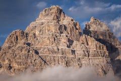 Piękne góry i skały panoramy dolomity, Włochy Obrazy Royalty Free