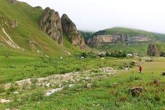 Piękne góry w Gusar regionie Azerbejdżan obraz stock