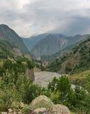 Piękne góry w Ismailli regionie Azerbejdżan obrazy royalty free