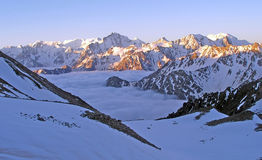 Widok góry w Kaukaz Zdjęcie Stock