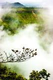 Piękne góry z mgłowym Obrazy Stock