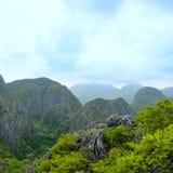 Piękne halne dżungle w Khao Sam Roi Yot parku narodowym Obrazy Royalty Free