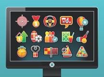 piękne ikony monitorują sporty Zdjęcia Stock