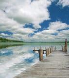 piękne jezioro krajobrazu Fotografia Royalty Free