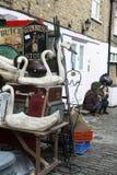 Piękne karty dla sprzedaży w Portobello rynku blisko Notting wzgórza Zakazują Londyn Obrazy Stock