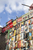Piękne karty dla sprzedaży w Portobello rynku blisko Notting wzgórza Zakazują Londyn Obraz Stock
