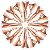 Piękne kobiet nogi w kalejdoskopu ornamencie obraz royalty free