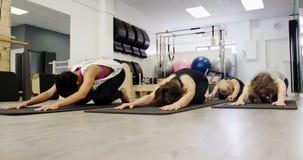 Piękne kobiety ćwiczy w sprawności fizycznej studiu zdjęcie wideo