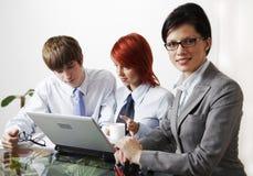 piękne kobiety przedsiębiorstw konsultant biały Zdjęcia Stock