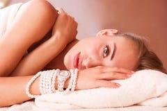 Piękne kobiety relaksują obrazy stock
