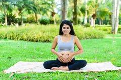 piękne kobiety w ciąży Fotografia Stock