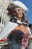 Piękne kobiety w kostiumu przy Wenecja, Włochy 2015 Zdjęcie Royalty Free