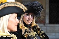 Piękne kobiety z maską w Wenecja, Włochy 2015 Obraz Stock