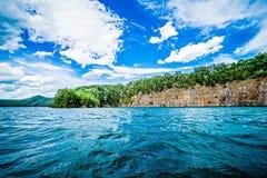 Piękne krajobrazowe sceny przy jeziornymi jocassee południe Carolina obraz stock