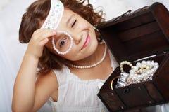 Piękne małych dziewczynek sztuki obrazy royalty free