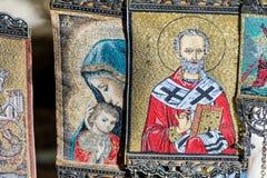 Piękne malować wiszące greckie ikony Obrazy Royalty Free