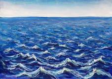 Piękne morze fala Abstrakcjonistyczna turkus fala Morski tło fotografia royalty free