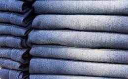 piękne niebieskie jeansy tło Fotografia Stock