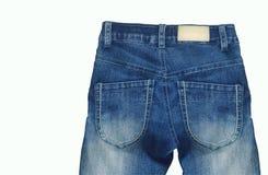 piękne niebieskie jeansy tło Obrazy Royalty Free