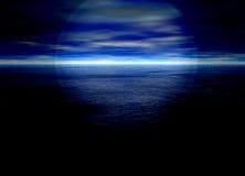 piękne niebieskie tło bystry odległy horyzont ilustracja wektor