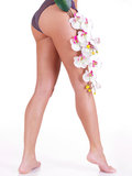 Piękne nogi kobieta po zdroju Obraz Royalty Free