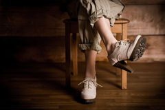 Piękne nogi w piętach Obrazy Royalty Free