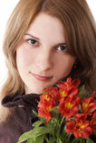 piękne odosobnione młode kobiety Obrazy Royalty Free