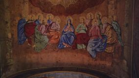 Piękne Ortodoksalne ikony w świątyni zbiory
