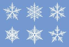 piękne płatki śniegu ilustracji