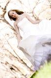 piękne panny młodej grać Fotografia Stock