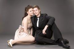 piękne pary młode portret Obrazy Stock