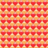 Piękne pastylki bezszwowa deseniowa kolorowa czerwień i pomarańcze Fotografia Royalty Free
