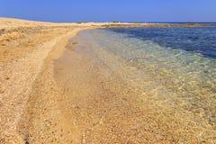 Piękne piaskowate plaże Apulia: Porto Cesareo plaża - WŁOCHY Salento- zdjęcie stock